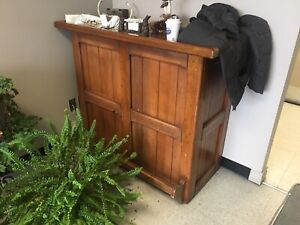 Antique desk.  Front of house/customer service