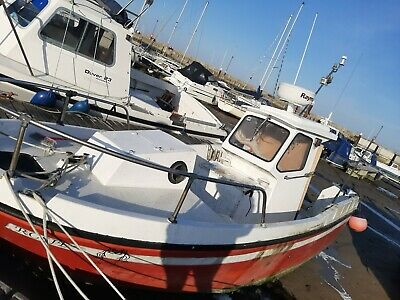 sports fisher fishing boat motor boat work boat new engine ready to go