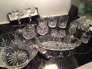 Crystal (13 items) good condition 50$