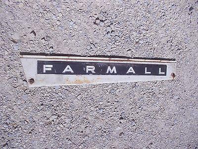Farmall 806 Tractor Ih Ihc Front Left Hood Skirt White Panel Emblem Sp Bolts