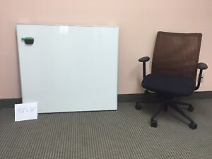 "Whiteboard Large 32"" X 48"", Porcelain, Aluminum frame, Magnetic"