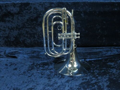 Dynasty Silver G French Horn Bugle Ser#N3476 2 Piston Valves Plays Great!