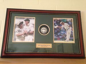 Warne and mcgrath , hand signed original photos . Whitfield Cairns City Preview