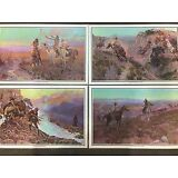 4 Charles M. Russell Prints Placemats Western Cowboys And native americans