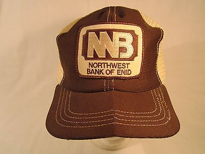 Vintage Hat Mens Cap Northwest Bank Of Enid  Oklahoma  Z191f