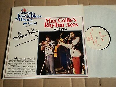 MAX COLLIE RHYTHM ACES - LIVE - AMERICAN JAZZ & BLUES HISTORY 61 - LP - SIGNED