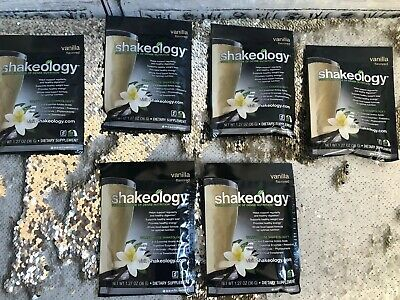 NEW  Shakeology 6 Pack *BEST BY 02/2020*  Vanilla 6 Individual