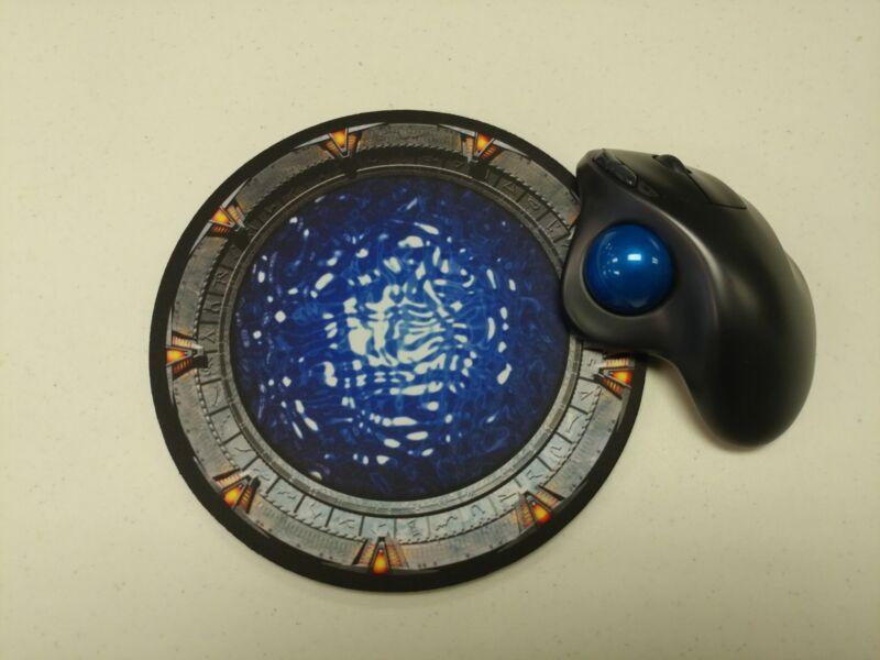 Stargate portal 8inch neoprene round Mousepad