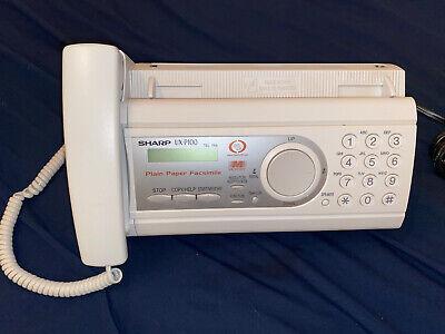 Sharp Ux-p100 Plain Paper Fax Machine Works