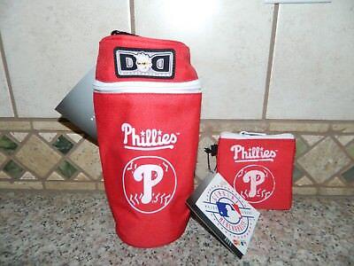 NWT DIAPER DUDE MLB Philadelphia Phillies PACIFIER POUCH & BOTTLE HOLDER Set - Diaper Dude Bottle Holder