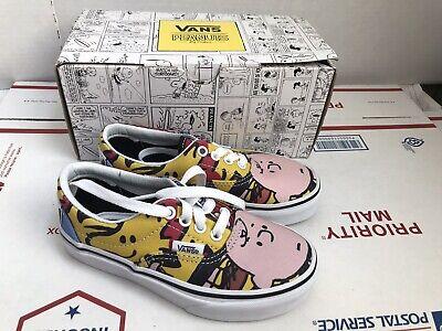 New Vans Era  Peanuts Gang Skate Shoes Sneakers Kids Youth Size 12