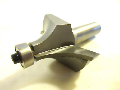 Router Bit Carbide Tipped 34 Radius Round-over Bit With Guide Bearing.