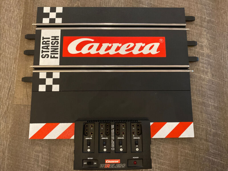 Carrera Wireless Power Connection Track Start/Finish Line 1/24 Track 4 1/32 Car