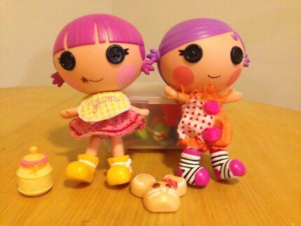 2 x Baby La La Loopsy dolls