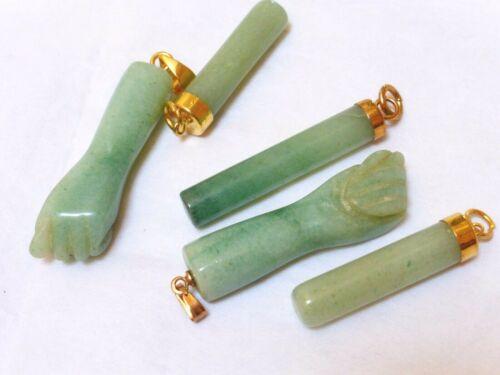 Estate Chinese Green  Jade Pendant, Set of 5