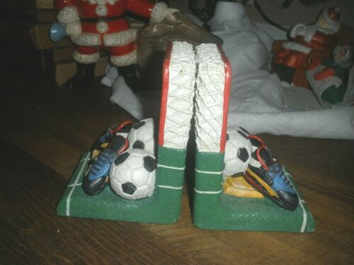 """vtg Soccer Bookends  Made Of Resin Heavy 6""""tall"""