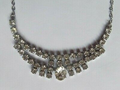 60s -70s Jewelry – Necklaces, Earrings, Rings, Bracelets 1960s DIAMANTE STONES NECKLACE 14