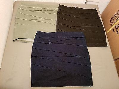 - New BLANKNYC Denim Mock Wrap Bandage Mini Skirt ~ Three Colors To Choose From