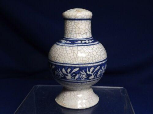 "OLD Dedham Pottery Rabbit Salt Shaker 3 5/8"" Hi Small Base Edge Chip Early Mark"