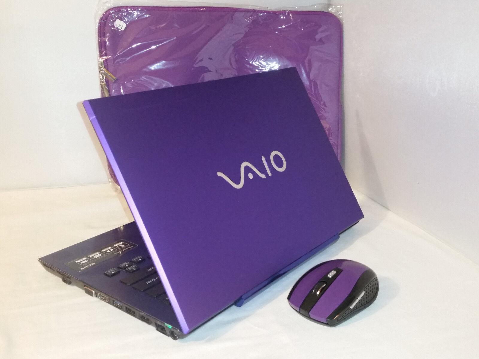 Purple Satin Sony Vaio VPCSB11FX 2tb 4gb 2.30GHz i5 Windows 10 Office 2016