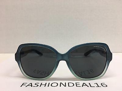 Armani Exchange Ocean Teal Gradient Oversized AX4029S 813687 57mm Sunglasses - Teal Sunglasses
