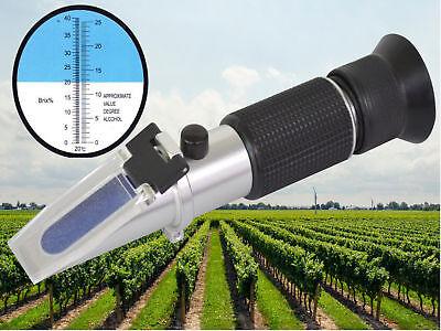 Refraktometer Wein Winzer Bier Alkohol Zucker Gehalt Brix: 0-40% Alkohol: 0-25%
