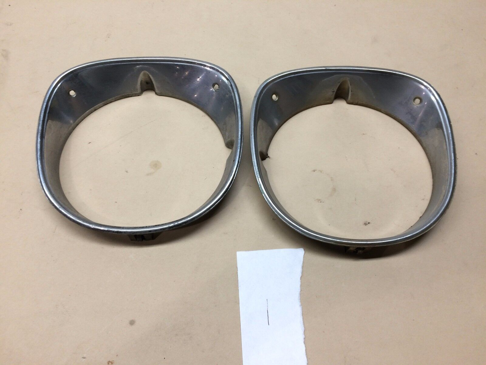 1970 Chevelle 70 Malibu El Camino Headlight Headlamp Bezel Trim PAIR #1