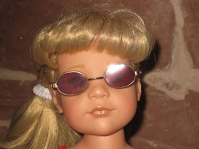 Sonnen Brille braun, Puppenkleidung, 46-50cm Steh-Puppe, ohne Puppe, 1528