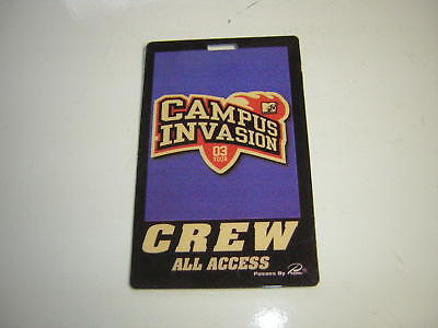HIM BACKSTAGE PASS 6/28/2003 MTV CAMPUS INVASION TOUR CREW ALL ACCESS