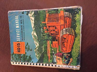 Allis Chalmers Allis-chalmers Hd Crawler Service Manual Hd 15 Bulldozer