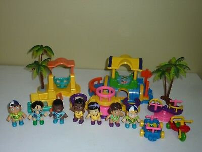 Vintage New Ray Novelty Playground w/ Wind-Up Roundabout (1994) Doll Set (1991) for sale  Flushing