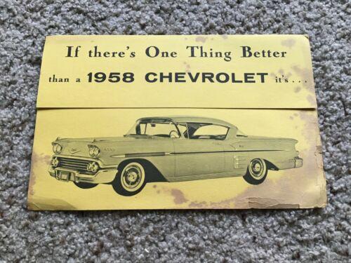 1958  Chevrolet  small information folder.