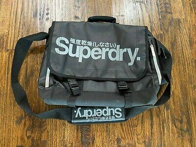 SuperDry Messenger Bag BLACK WHITE - AWESOME! Hard to Find Color Combo!