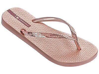 Ladies Ipanema Glam Flip Flops - Rose