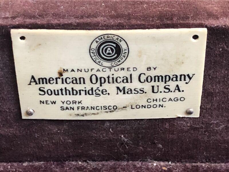 Steampunk Antique American Optical Optometrist Exam Case Eyeglass 182+ Lens Set