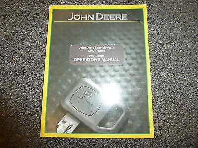 John Deere X330 X350 X354 X370 X380 X384 Tractor Owner Operator Manual Omm161628
