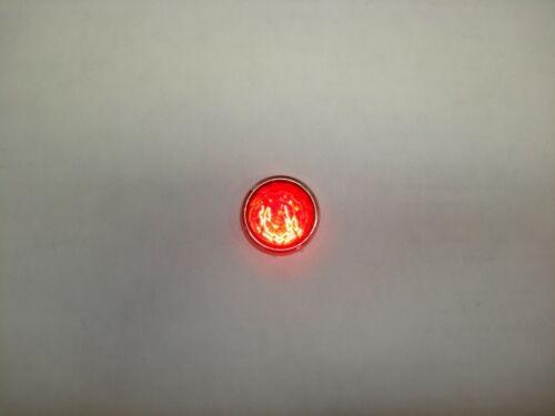 """DIALCO Dialight 1"""" Red Panel Lamp Holder 75W 125V Jewel Cut Lens Tube Amp"""