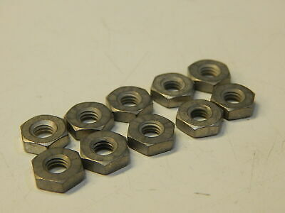 10 Ms35650-305t Military Hardware Hex Nut 10-32 Fine Thread - Lot Of 10 Nuts