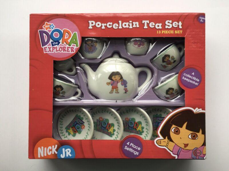 Dora The Explorer 13 piece Porcelain Tea Set NIB
