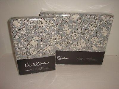 DwellStudio Audubon King Duvet Cover + Shams Set Bohemian Bird Floral Porcelain