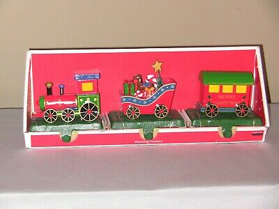 Set of 3 Target Brand Train Christmas Stocking Holders, 2008, Original Packaging