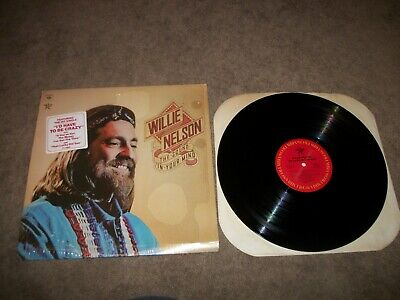 WILLIE NELSON, THE SOUND IN YOUR MIND LP IN SHRINK W/ HYPE  PC 34092 - EX