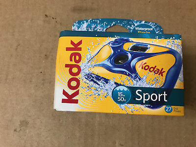Kodak Sport Waterproof One Use Disposable Camera 27 EXP:2017