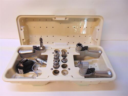 Stryker System 5 Drill Set 4103,4206, 4208,  6 Attachments, Battery & Case S3737