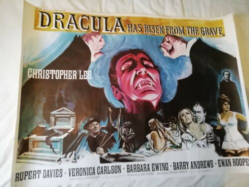 DRACULA HAS RISEN FROM THE GRAVE (1968) - original UK Quad poster ROLLED