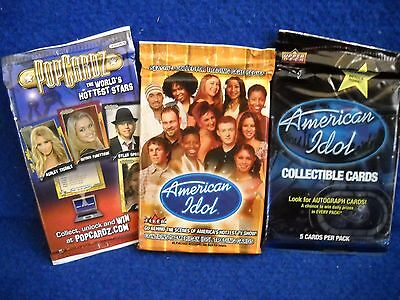 American Idol Stars   Pop Cards Trading Card Pack Lot Of 3
