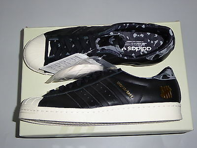8600 bape x adidas x undefeated Superstar 80v black US8.5