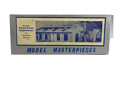 Model Masterpieces HO Scale 2-Stall Stone Engine House W/ PowerHouse