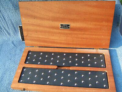 Parallels Ball Bearing Vintage Reid Cased 12in Used Clean Machinist Toolmaker