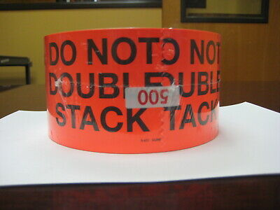 Do Not Double Stack Label - Fluorescent Red 3 X 5 500 Per Roll Made In Usa